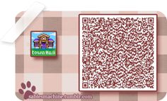 ACNL QR Code: Town Hall Sign
