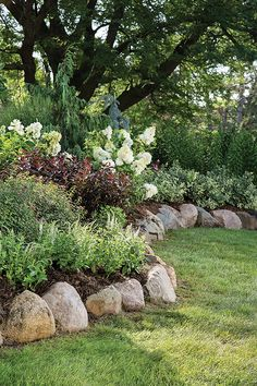 Finding the right plant combination is like picking an outfit. Plants don't ha Finding the right plant combination is like picking an outfit. Plants don't ha Landscaping With Rocks, Outdoor Landscaping, Front Yard Landscaping, Outdoor Gardens, Landscaping Plants, Landscaping Ideas, Steep Hill Landscaping, Outdoor Decor, Garden Yard Ideas