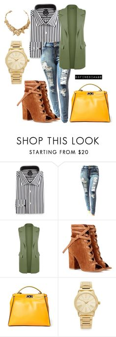 """""""Working Girl Chic"""" by d3finedimage on Polyvore featuring English Laundry, WearAll, Gianvito Rossi, Fendi, Michael Kors and Oscar de la Renta"""