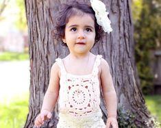 Infant Rompersummer | Etsy Mint Green, Yellow, White Trim, Rose Buds, Color Combinations, Hot Pink, Infant, Barn, Flower Girl Dresses