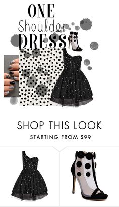 """""""Polka Dot Dress"""" by kylie2357 ❤ liked on Polyvore featuring Yves Saint Laurent"""