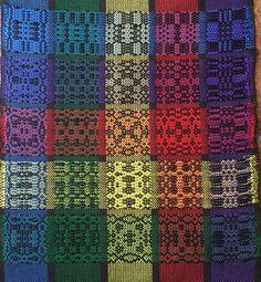 Bertha Gray Hayes Overshot Gamp #weaving #overshot