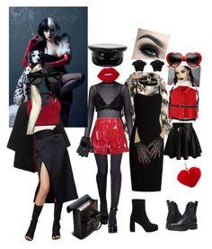"""cruela devil outfit"" by juza on Polyvore featuring New Look, Valentino, Versace, MaxMara, Burberry, Dorothy Perkins, Manokhi, Chicwish, FRACOMINA and Boohoo"