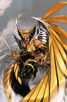 Kendra Saunders is the winged super-heroine Hawkgirl, a member of the Justice League. She was formerly the leader of the Blackhawks, an anti-apocalyptic team. Comic Book Characters, Comic Character, Comic Books Art, Comic Art, Comic Pics, Female Characters, Book Art, Marvel Girls, Ms Marvel