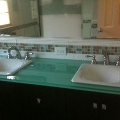 glass vanity top backpainted - Google Search