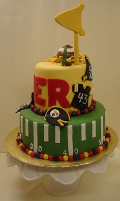 Touchdown! Football Birthday Cake by JMC Custom Cakes, via Flickr