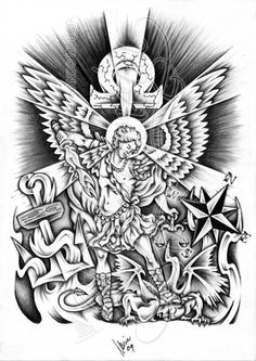 Looking for the perfect tattoo design? Here at Create My Tattoo, we specialize in giving you the very best tattoo ideas and designs for men and women. We host over unique designs made by our artists over the last 8 y Armor Tattoo, Leg Tattoo Men, St. Michael Tattoo, Under The Sea Drawings, Jesus Tattoo Design, Evil Tattoos, Dope Tattoos, Awesome Tattoos, Create My Tattoo