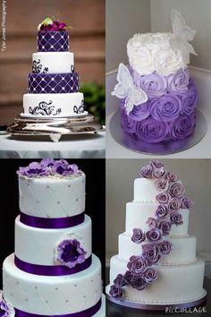Indescribable Your Wedding Cakes Ideas. Exhilarating Your Wedding Cakes Ideas. Purple Cakes, Purple Wedding Cakes, Fall Wedding Cakes, Wedding Cakes With Flowers, Elegant Wedding Cakes, Elegant Cakes, Wedding Cake Designs, Rustic Wedding, Lace Wedding