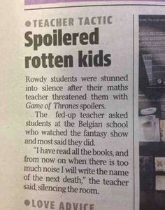 Now THIS is a smart teacher.