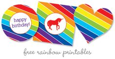 free-rainbow-printables from Swanky Press