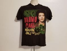 Bruno Mars The Moonshine Jungle Tour 2013 Adult Small Black TShirt