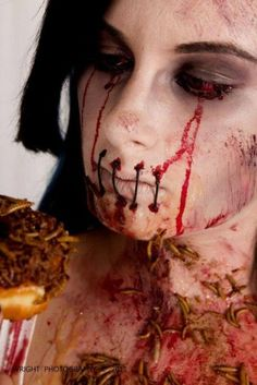 This zombie pic is so disguising and gross - an A plus for Zombie and Horror Fans