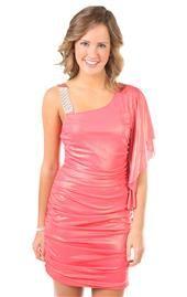 one shoulder flutter sleeve metallic foil tight club dress Club Dresses, Dresses For Sale, Formal Dresses, Deb Shops, Flutter Sleeve, Plus Size Outfits, Tights, One Shoulder, Denim