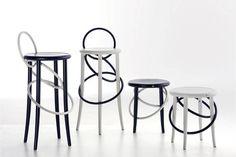 The playful Cirque #stool from Gebrüder Thonet Vienna GmbH.