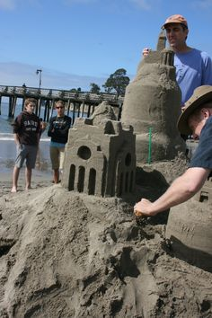 Capitola - Sand Sculpture contest -Right Before Begonia Festival. Capitola California, Sunny California, Looking For Houses, Sand Sculptures, Salt And Water, Begonia, Golden State, Beaches, Mount Rushmore