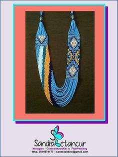 cca0fc167b14 Collar hecho a mano en mostacilla Checa pedidos wsp 3014974177  Colombia   fashion  collares
