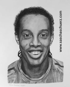 Ronaldinho drawing by Sascha Schürz Soccer Motivation, Drawing Tutorials For Beginners, Album Cover, Charcoal Portraits, Marvel Drawings, All About Music, Famous Singers, Pop Songs, People Art