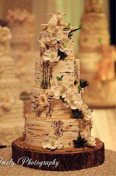 木の幹ケーキ♡個性的な結婚式のウェディングケーキまとめ一覧♡