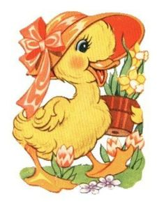 papers.quenalbertini: Vintage Chick with Hat and Flowers | facilisimo