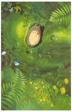 A great poster of a scene from Hayao Miyazaki's 1988 Studio Ghibli anime movie My Neighbor Totoro! Perfect for kids of all ages. Ships fast. 11x17 inches. Check