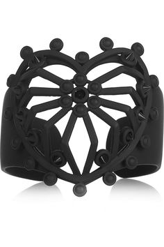Eddie Borgo Spiked Heart powder-coated cuff - 60% Off Now at THE OUTNET