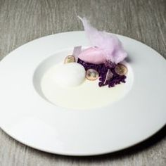 Grape, Yogurt & Black Currant Plated Dessert // Fuel your passion with more recipes at www.pregelrecipes.com