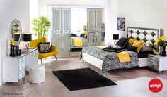 مفرش السرير يقع عليه عامل كبير في إكمال الشكل العام للديكور؛ اختاريه مزخرفاً وسوف تحصلين على #ديكور رائع أنيق، هاديء ومتكامل. #ميداس #غرف_نوم #أثاث #تسوق #تصاميم