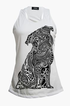 Polynesian Pug Ladies Tank Top