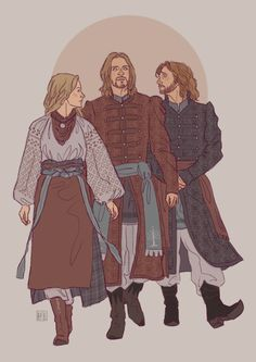 Family dream-team Eowyn, Boromir and Faramir. On their way to steal your boy, your girl and your heart. Character Concept, Character Art, Concept Art, Character Design, Dnd Characters, Fantasy Characters, Grandeur Nature, O Hobbit, Jrr Tolkien