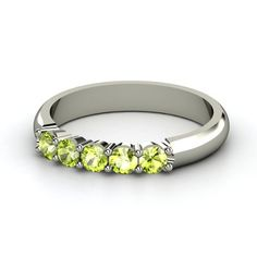 push present - stackable ring I can add to. Peridot - August birthstone