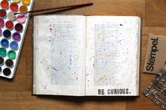 Get Messy Art Journal//Lauren Likes Blog//Be Curious inspired by Big Magic