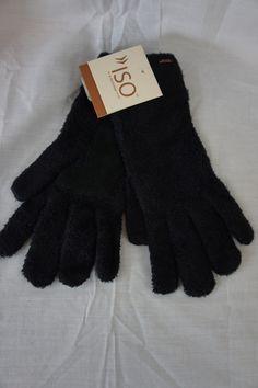 13.47$  Watch here - http://vinml.justgood.pw/vig/item.php?t=v37kuk1745 - Isotoner Gloves Solid Black Velvet Casual Winter Outer Wear