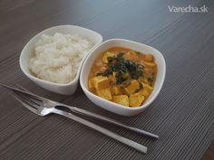 Tofu kari s cícerom a špenátom (fotorecept) - Recept