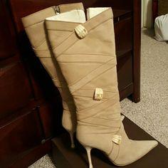 Escada tall boots Beautiful suede boots Escada Shoes Heeled Boots