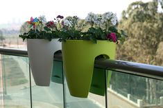 balcony planter boxes for railings | Modern Planters for a Balcony Or Any Other Space with Railing ...