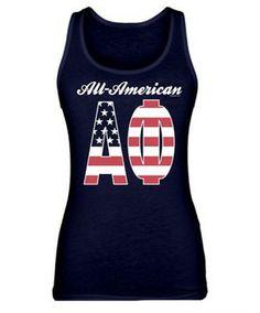 All American Alpha Phi Tank by Greek U