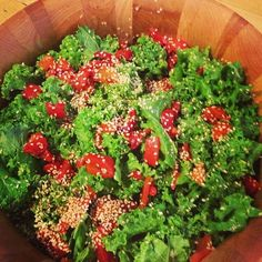 Cure-All Kale Salad with lots of garlic from Dr. Ann
