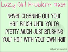Lol Well, I would have this problem, but Ali cleans our brushes on the daily. She's a lil ocd about it. ;)