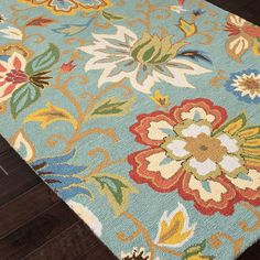 found it at wayfair hacienda light turquoise floral area rug