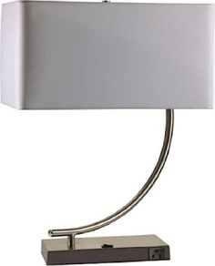 Ore International, Inc Ore International 6223-1 Contemporary Table Lamp with Convenient Outlet ORE