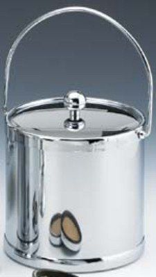 Kraftware 70092 Americano 3 Qt Ice Bucket with Bale Handle in Chrome * Details can be found by clicking on the image.