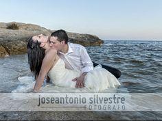Fotos de boda en Ibi y postboda en la playa