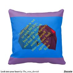 Look into your heart pillow