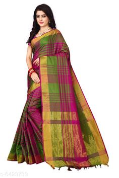 Checkout this latest Sarees Product Name: *Trendy Attractive Silk Women's Saree* Fabric: Saree - Silk Blouse - Silk Size: Saree Length With Running Blouse - 6.3 Mtr Work: Tassel Country of Origin: India Easy Returns Available In Case Of Any Issue   Catalog Rating: ★3.9 (4397)  Catalog Name: Trendy Attractive Silk Women'S Sarees Vol 16 CatalogID_691035 C74-SC1004 Code: 992-6429739-786