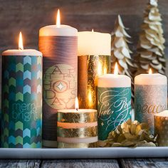 Festive Candle Wraps Free Christmas Printables