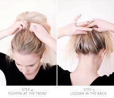 Hair long messy bun tutorials 24 Ideas for 2019 Beach Hairstyles For Long Hair, Trendy Hairstyles, Volleyball Hairstyles, Bun Tutorials, Brunette Color, Balayage Highlights, Purple Hair, Hair Dos, Hair Makeup