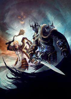 Heroes of The Storm - Johanna and Arthas by RodrigoBastos on DeviantArt