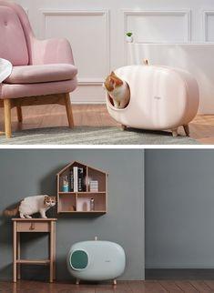 Cat Litter Box furniture petsmart petco IKEA cat food – My Cutia Diy Litter Box, Cat Litter Tray, Dog Proof Litter Box, Cat Liter, Ikea Cat, Cat Wall Furniture, Cat Toilet, Cat Scratching Post, Art Design