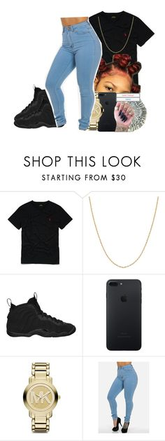 """✨"" by wavyykid on Polyvore featuring Ralph Lauren, Fremada, NIKE and Michael Kors"