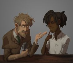 Potterwatch with Remus Lupin and Lee Jordan <-- Oh my! Lee Jordan looks so hot here! Harry Potter Drawings, Harry Potter Art, Harry Potter Fandom, Harry Potter Characters, Fictional Characters, Lee Jordan, Minor Character, Epic Story, Remus Lupin